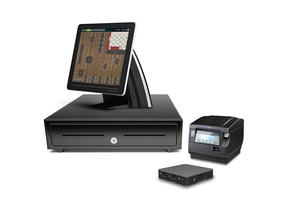 The Windows touchscreen e-pos for fullservice restaurants